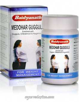 Медохар Гуггул, снижение веса, 120 таб,  Medohar Guggulu, 120 tabs, Baidyanath