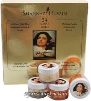 Золотой набор 4 в 1 Shahnaz Husain golden kit