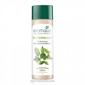 Шампунь-кондицнор Листья хны 120мл, Биотик Shampoo Henna leaf 120ml, biotique