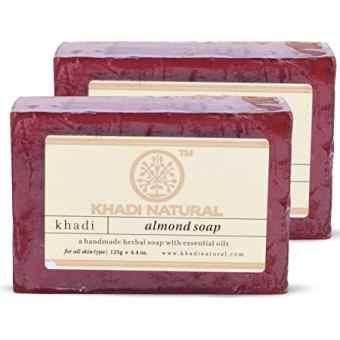 Натуральное аюрведическое Мыло Кхади Миндаль 125 г, Almond Soap Khadi