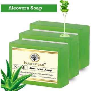 Натуральное мыло алое вера 125 г, кхади (aloe vera soap khadi)