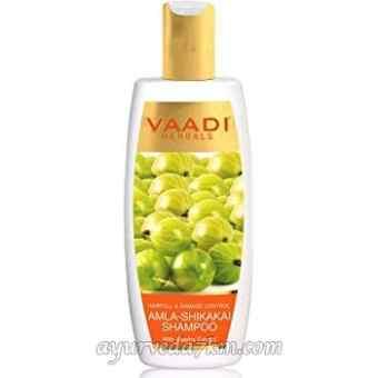 Шампунь против выпадения Ваади Амла Шикакай Ритха Amla Shikakai Rettha Shampoo Vaadi Herbals 350 мл