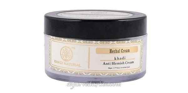 Аюрведический крем осветляющий пятна и рубцы, Кхади  Herbal anti-blemish cream, Khadi 50 gm