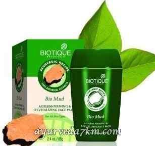 омолаживающая маска для лица Био Грязь 65 г   Bio mud face pack 65 g, Biotique скидка -Срок истек