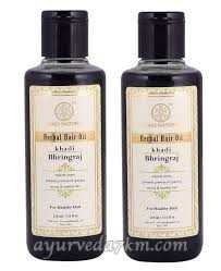 Масло для волос Брингарадж 210 мл, Кхади / Herbal hair oil Bringaraj 210 ml Khadi Natural