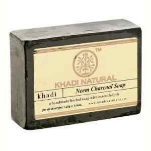 """Натуральное мыло """"Ним и бамбуковый уголь"""" 125 г (Neem charcoal soap Khadi)"""