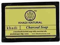 """Натуральное мыло """"Древесный уголь"""" 125 г, Кхади (Khadi Charcoal Soap 125 g)"""