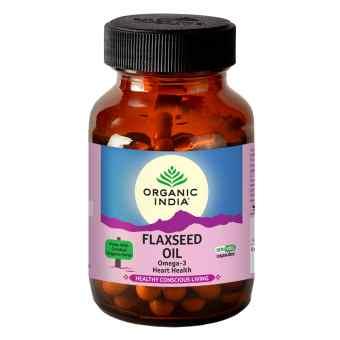 Льняное масло 60 кап Органик Индия (Flaxseed oil Organic India)