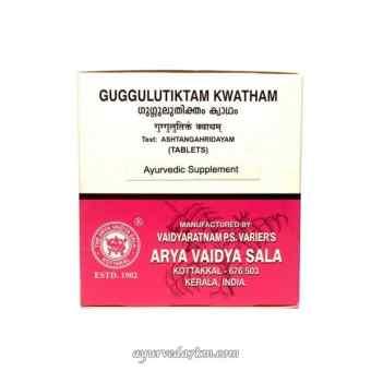 Гуггулутиктам Кватхам для лечения заболеваний кожи, суставов и костей, 100 таб,  Guggulutiktam Kwatham, 100 tabs, Kottakkal Ayurveda