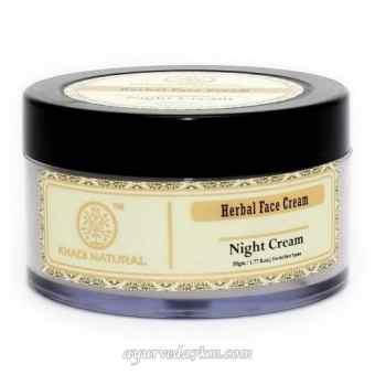 Ночной крем для лица Khadi для нормальной и сухой кожи Night cream Khadi 50 г