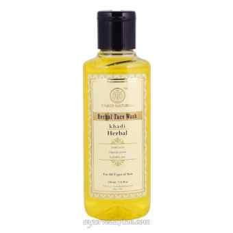 Травяной гель для умывания, Кхади Herbal face wash Khadi  210 ml