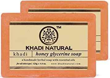 """Натуральное мыло """"Мед и глицерин"""" 125 г, Кхади (Honey glycerine soap Khadi)"""