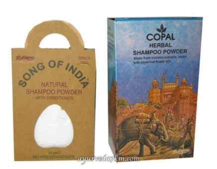 Сухой травяной шампунь в ассортименте-copal herbal shampoo powder Songs of India