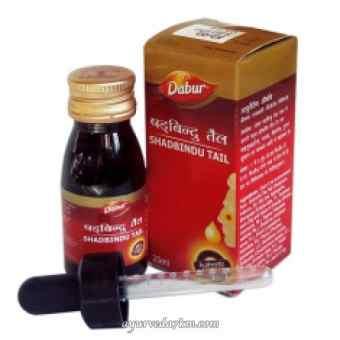 Шадбинду таил Дабур 25 мл (аюрведический нозальные капли) Shadbindu oil Dabur