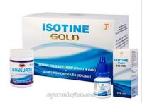 Айсотин Голд комплекс для здоровья глаз: капли 4 шт + 60 капсул
