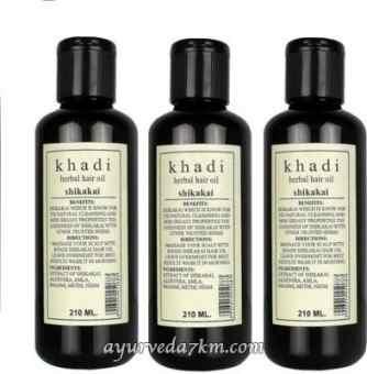 Травяное масло для волос Шикакай Кхади  Herbal hair oil Shikakai 210 ml Khadi
