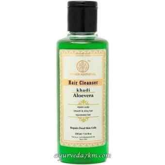 Травяной шампунь Алое вера 210 мл, Кхади Herbal shampoo Aloe Vera 210 ml, Khadi