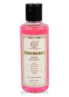 Травяной Кхади гель для душа роза и мед Rose honey body wash 210 ml