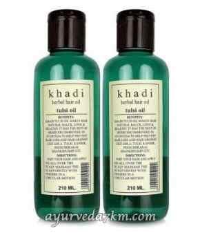Травяное Масло для волос Тулси 210 мл Кхади Herbal hair oil Tulsi 210 ml Khadi