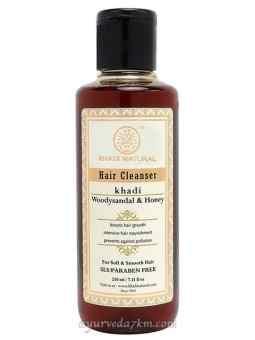 Травяной шампунь Сандал и мед кхади 210 мл  Herbal Shampoo Sandalwood honey 210 ml Khadi