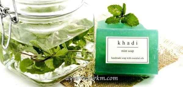 Натуральное аюрведическое Мыло Мята  125 г Khadi Mint Soap