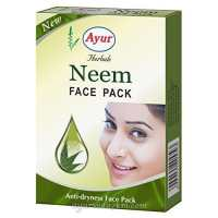 Маска для лица с Ним 100 гр - Neem Face pack Ayur 100 грм