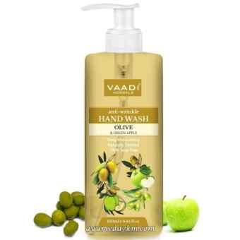 Жидкое мылоОлива и зеленое яблоко 250 мл, Ваади (Anti-Wrinkle Olive Green Apple Hand Wash 250 ml, Vaadi)