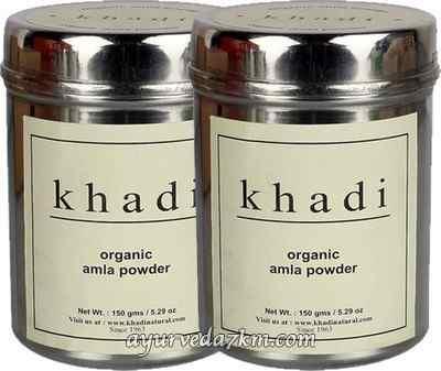 Травяной Порошок  Кхади Амла- Маска для волос и кожи Organic Amla powder Khadi 150 г