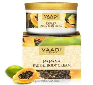 Крем Папайя для лица и тела 150 грм Papaya Face and Body cream Vaadi Herbal