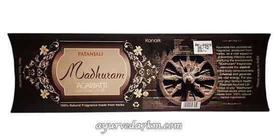 Благовония Конарк 25 г Madhuram Agarbatti  Konark Patanjali