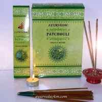 Благовония Пачули, пильцовые, натуральные, Ayurvedic Patchuli (15gm)
