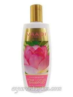Шампунь для окрашенных волос Розовый Лотос и Мед Pink Lotus Shampoo Vaadi Herbals  350 мл