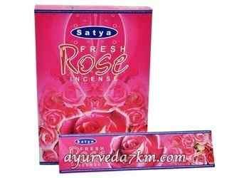 Благовоние Свежая Роза Fresh Rose, Satya, 20 грм