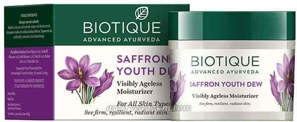 Крем для лица и тела Био Шафран 50 гр  Bio Saffron Dew 55 g Biotique