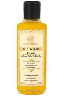 Травяной шампунь Шафран Тусли и Ритха 210 мл Herbal shampoo Saffron Tulsi & Reetha 210 ml Khadi