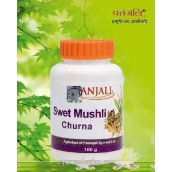 Сафед Мусли Чурна для укрепление иммунитета, 100 г, Патанджали Swet Mushli Churna Patanjali