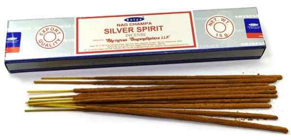 Ароматические палочки Серебряный Дух, Silver Spirit Satya 15 грм