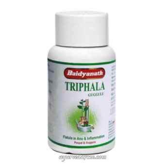 Трифала Гуггул 80 таблет Triphala Guggulu Baidyanath