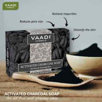Мыло Бамбуковый уголь 75 г, Ваади (Charcoal soap  Vaadi Herbals)