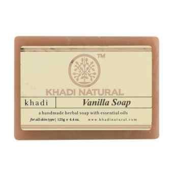 """Натуральное мыло """"Ваниль"""" 125 г, Кхади (Vanilla soap Khadi)"""