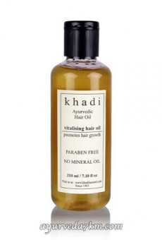 Травяное Масло для волос Укрепляющее 210 мл, Кхади Herbal hair oil Vitalising 210 ml Khadi