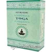 Благовония йога пильцовые, натуральные, Ayurvedic yoga (15gm)