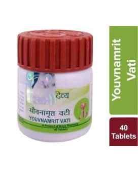 Ювнамрит вати Травяной тоник для мужской потенции (Divya Youvnamrit Vati, Patanjali) 40 таб.