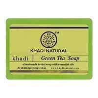 """Натуральное мыло """"Зеленый чай""""  125 г, Кхади (Greentea soap Khadi)"""